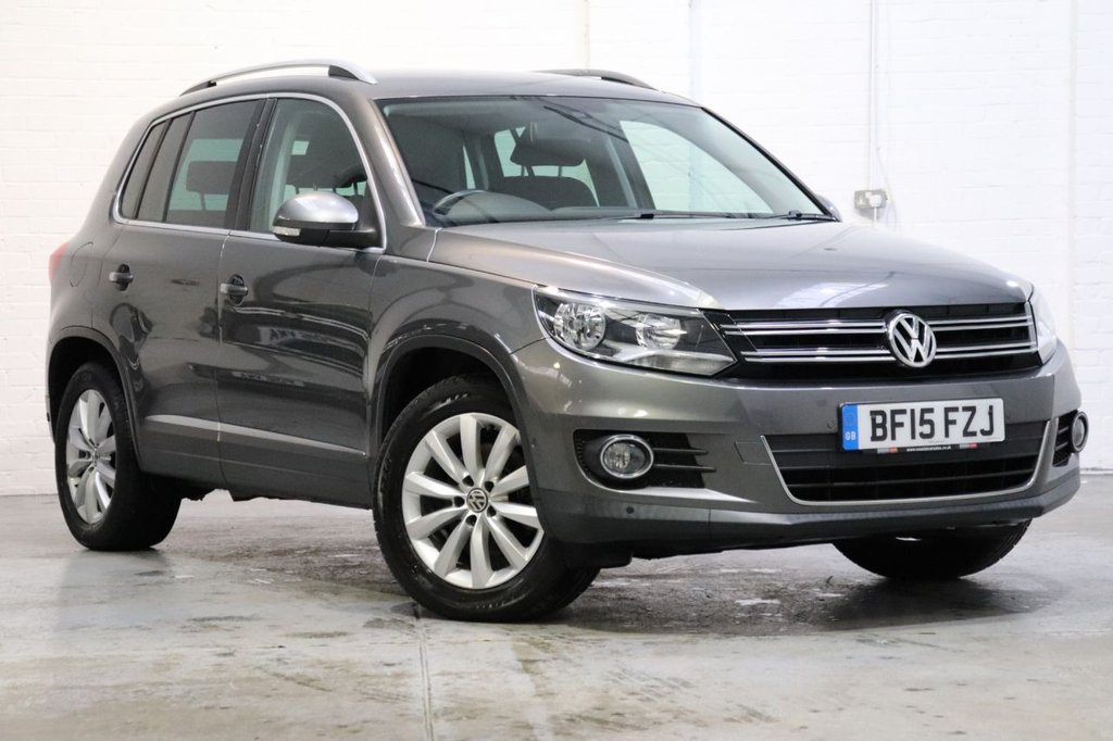 USED 2015 15 VOLKSWAGEN TIGUAN 2.0 MATCH TDI BLUEMOTION TECHNOLOGY 5d 139 BHP Satnav + Parking Aid + Dab