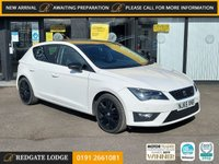 USED 2015 65 SEAT LEON 1.4 TSI FR BLACK TECHNOLOGY 5d 125 BHP SAT/NAV, BLACK PACK, HALF LEATHER, CRUISE, FRONT AND REAR PARK..
