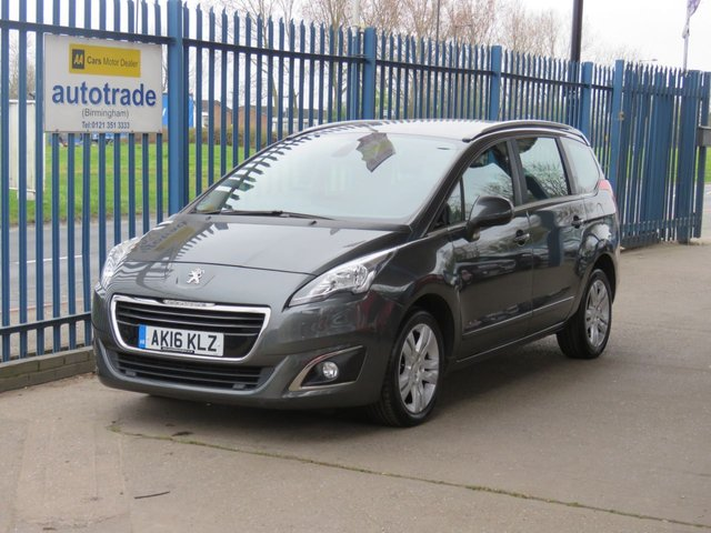 USED 2016 16 PEUGEOT 5008 1.6 BLUE HDI S/S ACTIVE 5d 120 BHP 7 Seater,Air Conditioning,Parking Sensors and Cruise Control