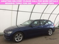 USED 2017 17 BMW 3 SERIES 2.0 320D ED SPORT TOURING 5d 161 BHP 1 OWNER | SAT NAV | LEATHER |