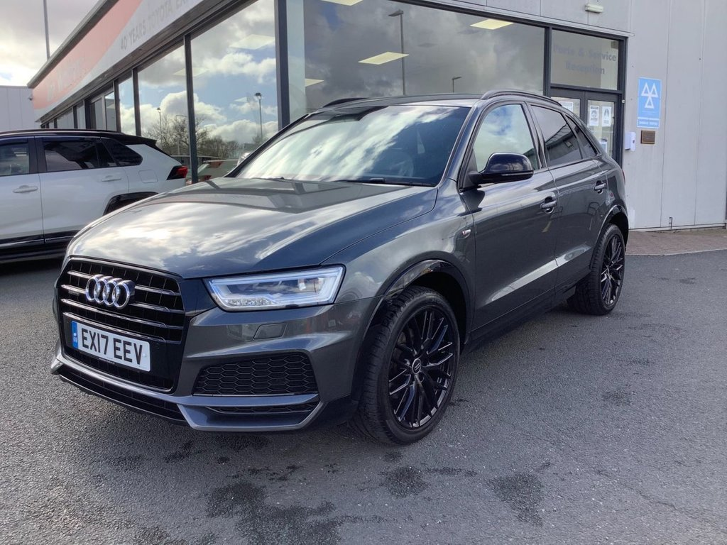 USED 2017 17 AUDI Q3 2.0 TDI QUATTRO BLACK EDITION 5d 182 BHP