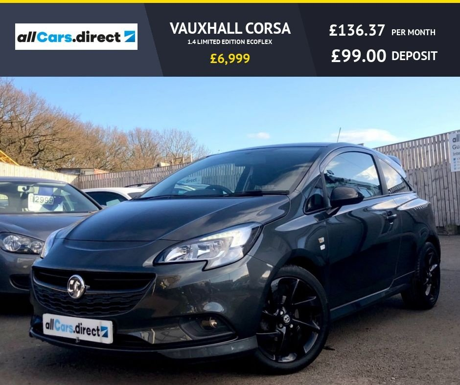 USED 2017 17 VAUXHALL CORSA 1.4 LIMITED EDITION ECOFLEX
