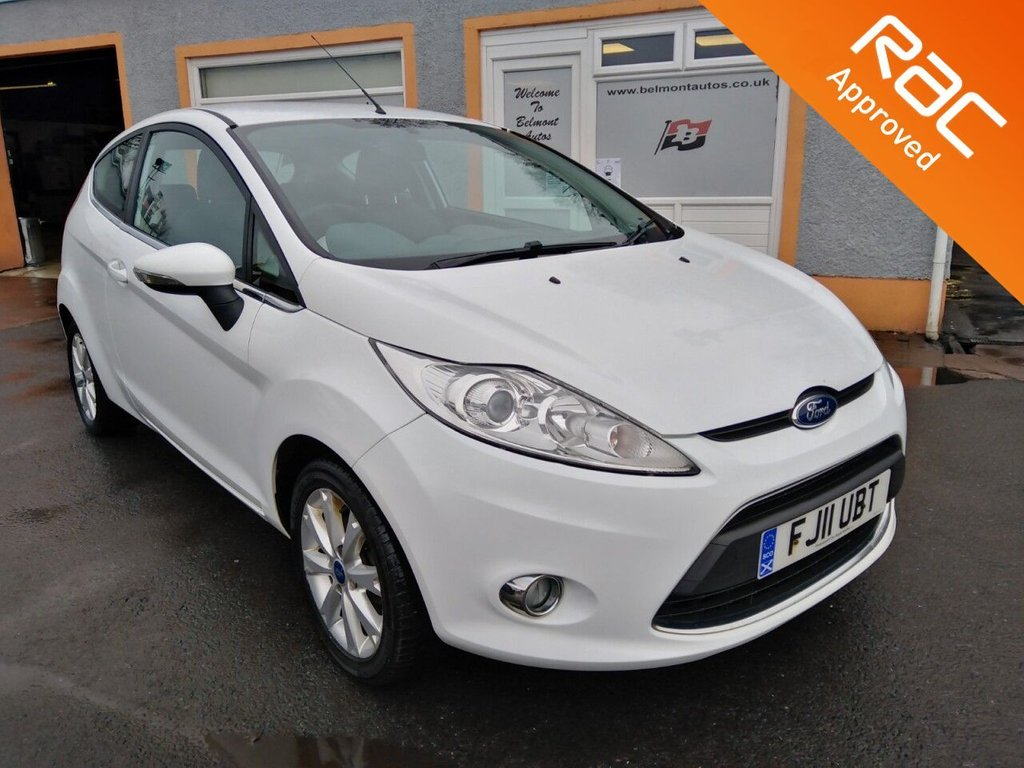 USED 2011 11 FORD FIESTA 1.2 ZETEC 3d 81 BHP Massive Specification, Bluetooth, Heated Windscreen, Heated Electric Folding Mirrors, Parking Sensors, Interior Ambient lighting