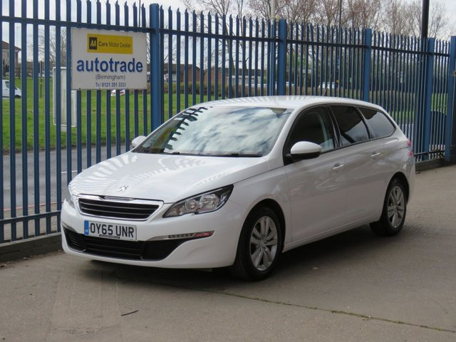 USED 2015 65 PEUGEOT 308 1.6 BLUE HDI S/S SW ACTIVE 5d 120 BHP £0 Road Tax,SatNav,Cruise,Rear Parking Sensors,Climate Control