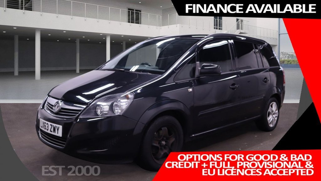 USED 2013 63 VAUXHALL ZAFIRA 1.6 EXCLUSIV 5d 113 BHP * 7 SEATS * PRIVACY GLASS * MOT SEPTEMBER * AIR CONDITIONING *