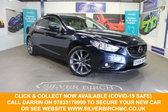 USED 2014 64 MAZDA 6 2.0 SPORT NAV 4d 163 BHP Nav, Low deposit Finance