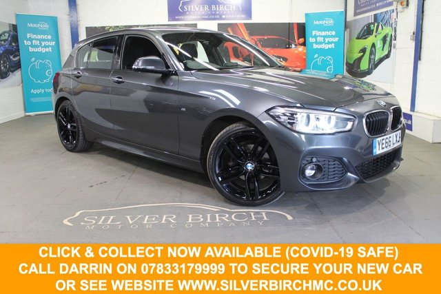 USED 2016 66 BMW 1 SERIES 1.5 116D M SPORT 5d 114 BHP £2590 of factory extras