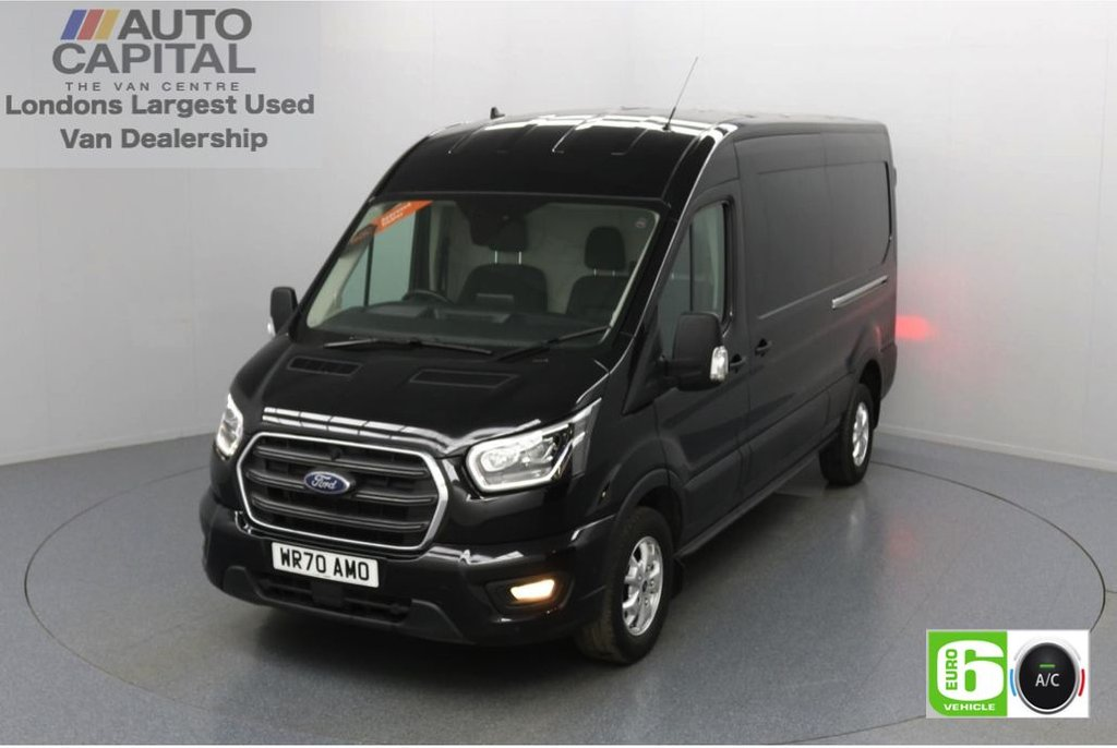USED 2020 70 FORD TRANSIT 2.0 350 FWD Limited EcoBlue Auto 130 BHP L3 H2 Low Emission Automatic   Sat Nav   AppLink   Ford SYNC 3   Apple CarPlay   Eco   Air Con   Start/Stop   F-R Sensors