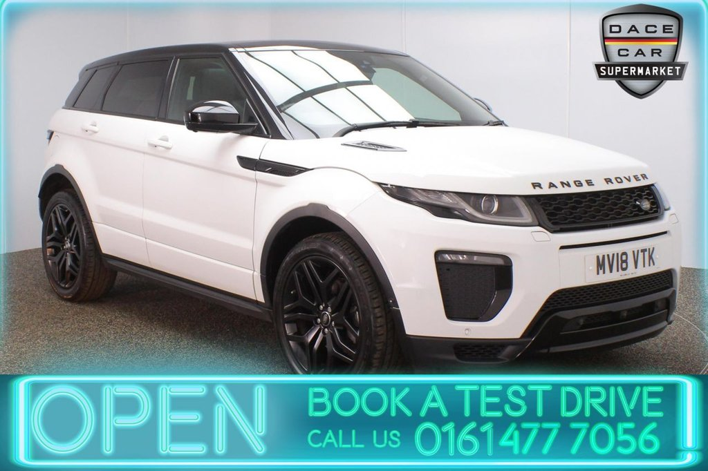 USED 2018 18 LAND ROVER RANGE ROVER EVOQUE 2.0 TD4 HSE DYNAMIC LUX 5DR 1 OWNER AUTO 177 BHP FULL LAND ROVER SERVICE HISTORY + HEATED LEATHER SEATS + PANORAMIC SUNROOF + SATELLITE NAVIGATION + AROUND VIEW CAMERA + PARK ASSIST + PARKING SENSOR + LANE ASSIST SYSTEM + BLUETOOTH + CRUISE CONTROL + CLIMATE CONTROL + MULTI FUNCTION WHEEL + DAB RADIO + ELECTRIC WINDOWS + ELECTRIC/HEATED/FOLDING DOOR MIRRORS + ALLOY WHEELS