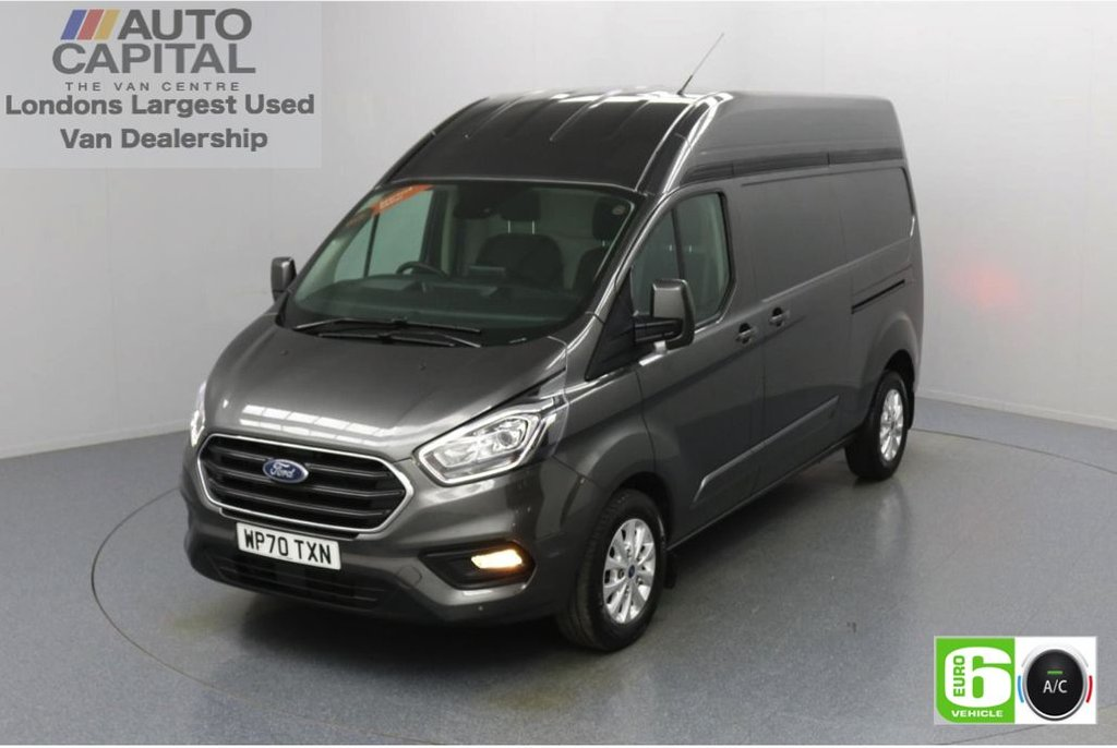 USED 2020 70 FORD TRANSIT CUSTOM 2.0 300 Limited EcoBlue Auto 170 BHP L2 H2 Euro 6 Low Emission Automatic   AppLink   Ford SYNC 3   Apple CarPlay   Eco   Air Con   Start/Stop   F-R Sensors