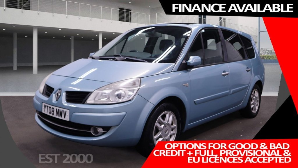 USED 2008 08 RENAULT GRAND SCENIC 2.0 DYNAMIQUE S VVT 5d 136 BHP * 7 SEATS * PRIVACY GLASS * LOW MILES 48,000 * 12 SERVICES *