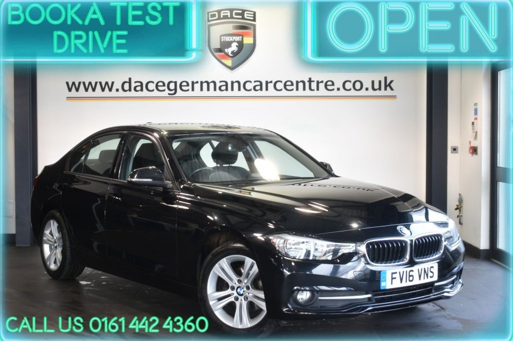 USED 2016 16 BMW 3 SERIES 1.5 318I SPORT 4DR 135 BHP FULL HISTORY + NAV + BLUETOOTH + HEATED SEATS + DAB