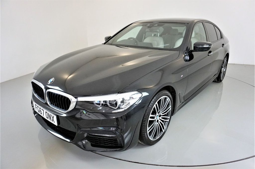 USED 2017 67 BMW 5 SERIES 2.0 520D M SPORT 4d AUTO-1 OWNER CAR-UPGRADE 19
