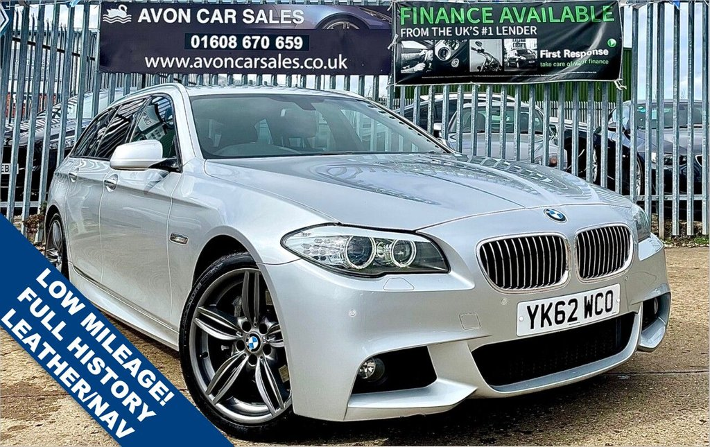 USED 2012 62 BMW 5 SERIES 3.0 530D M SPORT TOURING 5d 255 BHP AUTOMATIC! VERY LOW MILEAGE! FULL HISTORY! LEATHER! SAT NAV! 2 PREV OWNERS!