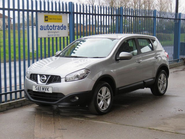 USED 2011 11 NISSAN QASHQAI 1.6 ACENTA 5d 117 BHP Service History with 9 Stamps-Cruise Control-Air Conditioning