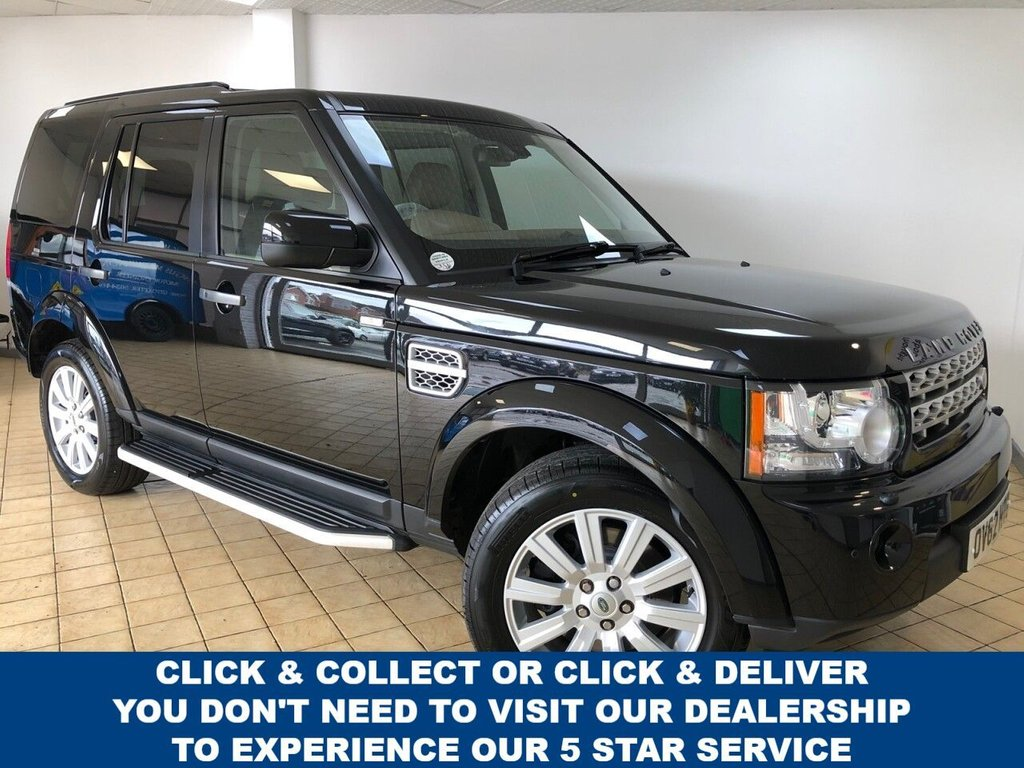 USED 2012 62 LAND ROVER DISCOVERY 4 3.0 SDV6 HSE 5d 7 Seat Family SUV 4x4 AUTO Low Mileage Excellent Service History with Massive High Spec inc Side Steps Privacy Glass Sat Nav DAB Digital Radio Heated Leather Seats in Front and Rear Mobile Phone Handsfree Bluetooth and much much more now Fully Prepared Great Service History Recent Service by us plus MOT 3 New Tyres New Front Brakes now Ready to Finance and Drive Away Today Excellent Service History + Masses of Spec
