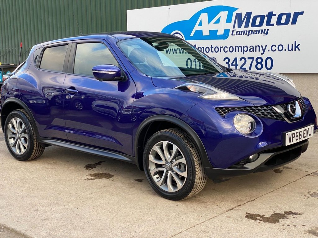 USED 2016 66 NISSAN JUKE 1.6 Tekna XTRON 5dr AUTOMATIC ONE OWNER. HISTORY