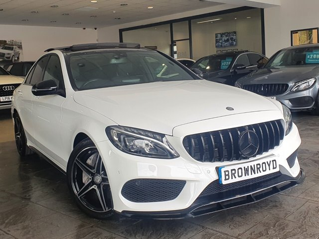 USED 2017 17 MERCEDES-BENZ C-CLASS 2.1 C 250 D AMG LINE PREMIUM 4d 204 BHP BRM BODY STYLING+PAN ROOF