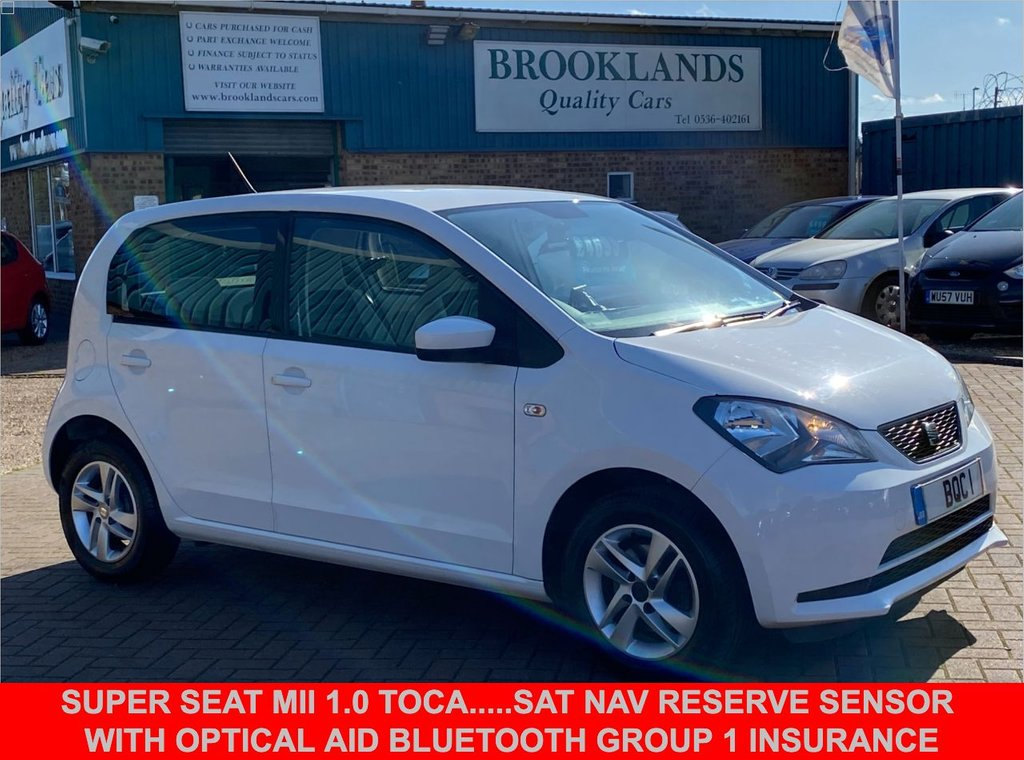USED 2013 63 SEAT MII 1.0 TOCA 5 Door White Only 30707 miles 59 BHP Super Seat Mii 1.0 Toca.....Sat Nav Reserve Sensor with Optical Aid Bluetooth Group 1 insurance