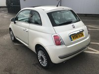 USED 2011 61 FIAT 500 1.2 LOUNGE 3d 69 BHP VERY RARE PEARL WHITE !!