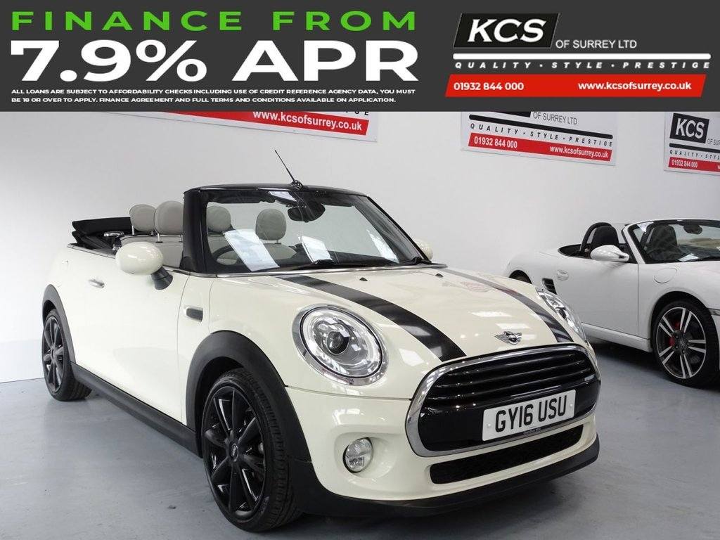 USED 2016 16 MINI CONVERTIBLE 1.5 COOPER 2d 134 BHP CHILI - HTD LEATHER - CAMERA