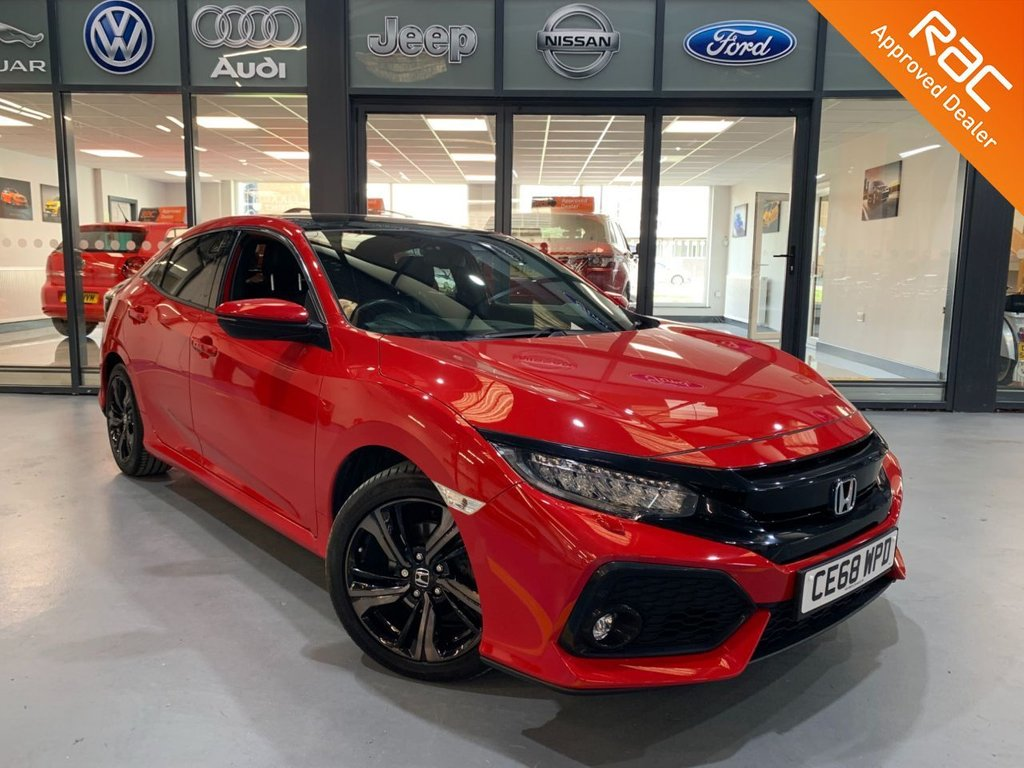 USED 2018 68 HONDA CIVIC 1.0 VTEC EX 5d 128 BHP Complementary 12 Months RAC Warranty and 12 Months RAC Breakdown Cover Also Receive a Full MOT With All Advisory Work Completed, Fresh Engine Service and RAC Multipoint Check Before Collection/Delivery