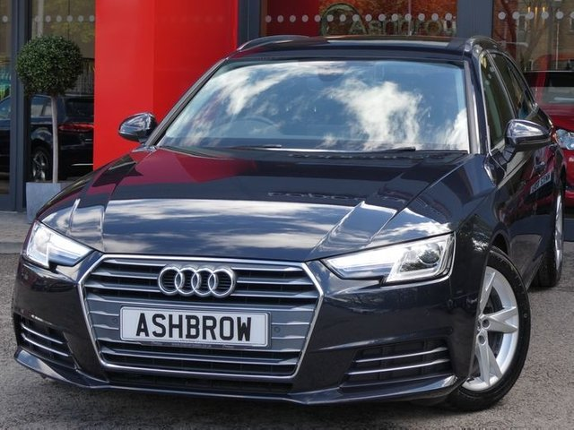 USED 2017 67 AUDI A4 AVANT 2.0 TDI ULTRA SPORT 5d 150 S/S [LEATHER] 1 OWNER, FULL AUDI SERVICE HISTORY, FULL BLACK LEATHER , HEATED FRONT SEATS, SAT NAV, AUDI SMART PHONE WITH APPLE CAR PLAY & ANDROID AUTO, FRONT & REAR PARKING SENSORS WITH DISPLAY, DAB RADIO, CRUISE CONTROL WITH SPEED LIMITER,BLUETOOTH PHONE & MUSIC, ELECTRIC TAILGATE, SPORT SEATS, LEATHER MULTIFUNCTION STEERING WHEEL, LIGHT & RAIN SENSORS, AUDI DRIVE SELECT, KEYLESS START, AUX INPUT, 2x USB PORTS, 3 ZONE CLIMATE AIR CON, ILLUMINATING VANITY MIRRORS, FFICIENCY ASSIST, AUDI PRE SENSE, VAT Q