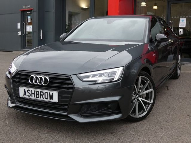 USED 2018 18 AUDI A4 2.0 TDI BLACK EDITION 4d AUTO 190 S/S BIG SPEC OVER £4615 OF OPTIONS, 1 OWNER, FULL SERVICE HIST, UPGRADE BANG & OLUFSEN 3D, UPGRADE CAMERA-BASED TRAFFIC RECOGNITION, UPGRADE COMFORT & SOUND PACK, UPGRADE EXTENDED LED INTERIOR LIGHT PACK, UPGRADE REAR VIEW CAMERA, UPGRADE DRIVER ASSISTANCE PACK (AUDI ACTIVE LANE ASSIST, ADAPTIVE CRUISE CONTROL WITH STOP&GO & TRAFFIC-JAM ASSIST, HILL HOLD), UPGRADE ELECTRIC FOLDING DOOR MIRRORS, UPGRADE SUEDE TRIMMED TIPTRONIC MFSW, UPGRADE ADVANCED KEY, UPGRADE MATRIX LED HEADLIGHTS, VAT Q