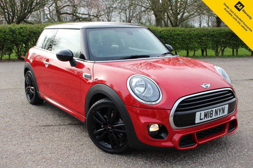 """USED 2018 18 MINI HATCH COOPER 1.5 COOPER 3d 134 BHP ** 1 OWNER FROM NEW ** FULL MAIN DEALER MINI SERVICE HISTORY ** NEW ADVISORY FREE MOT - EXPIRY APRIL 2022 ** NEW FRONT TYRES ** JCW BODYKIT **JCW SPORTS KIT ** GLOSS BLACK 17"""" TRACK SPOKE ALLOYS ** DAB RADIO ** AIR CONDITIONING ** AUTOMATIC LIGHTS AND WIPERS ** POWER BUTTON START ** ULEZ CHARGE EXEMPT ** 0 DEPOSIT FINANCE AVAILABLE ** CLICK & COLLECT + NATIONWIDE DELIVERY AVAILABLE **"""