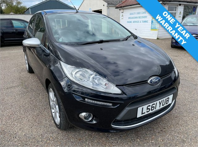 USED 2011 61 FORD FIESTA 1.2 CENTURA 5d 81 BHP ONE YEAR WARRANTY INCLUDED / FULL SERVICE HISTORY / ALL DAY RUNNING LIGHTS / VOICE COMMS / SUB / BLUETOOTH