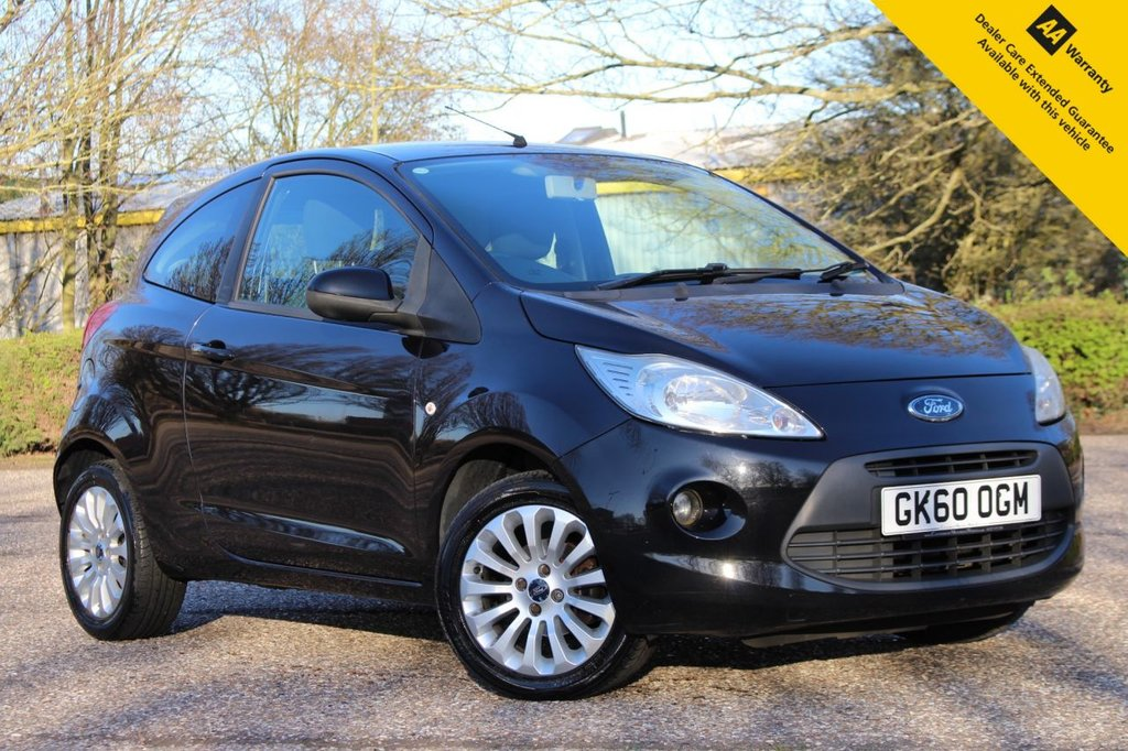 USED 2010 60 FORD KA 1.2 ZETEC 3d 69 BHP ** FULL SERVICE HISTORY ** BRAND NEW MOT + SERVICE ** UPGRADED REAR PARKING AID ** AIR CONDITIONING ** ELECTRIC WINDOWS ** ALLOY WHEELS  ** CD PLAYER + MP3 ** ONLY £30 ROAD TAX ** ULEZ CHARGE EXEMPT ** CLICK & COLLECT + NATIONWIDE DELIVERY AVAILABLE ** BUY ONLINE IN CONFIDENCE FROM A MULTI AWARD WINNING 5* RATED DEALER **