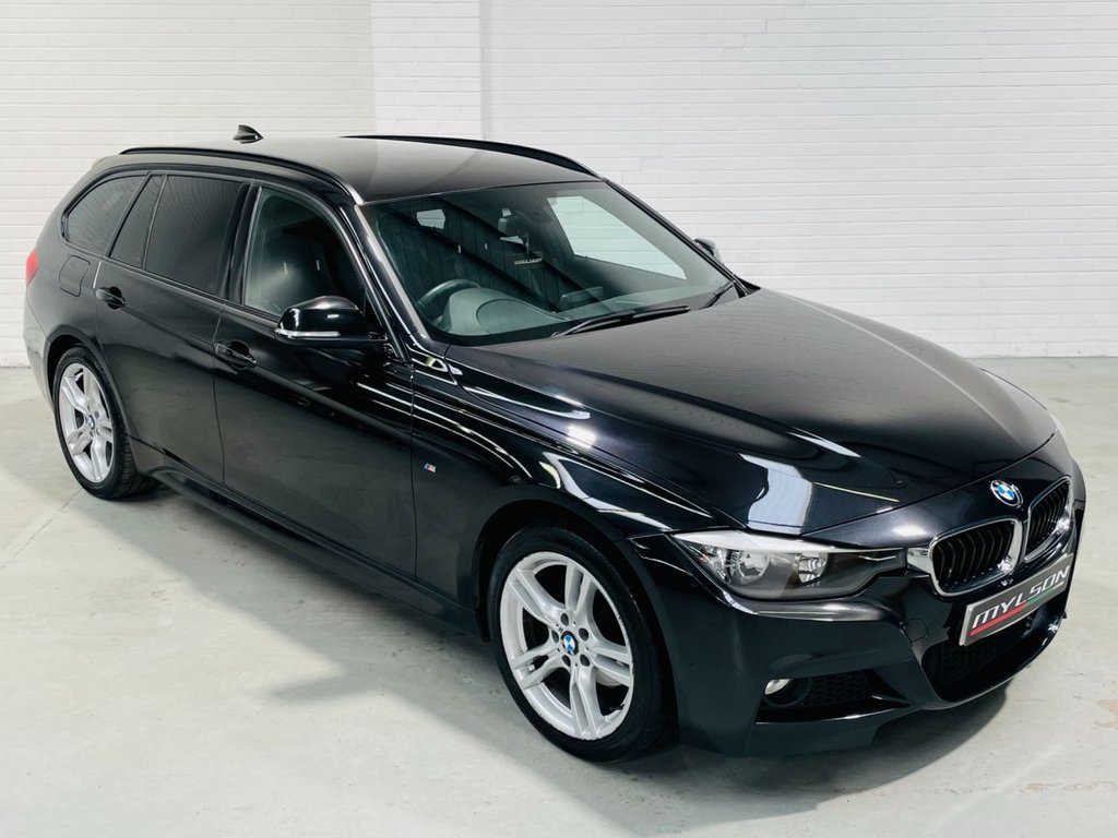 USED 2013 63 BMW 3 SERIES 2.0 320D XDRIVE M SPORT TOURING 5d 181 BHP XDrive 4X4|Black Leather|Tints|AA Inspected|FINANCE