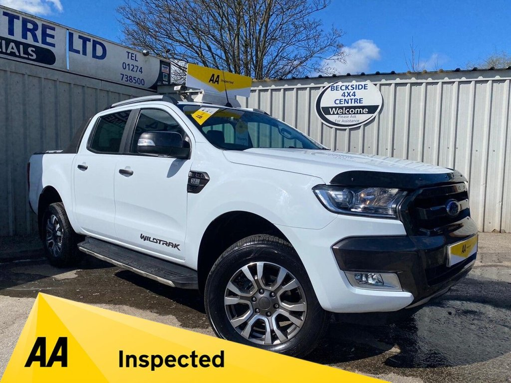 USED 2018 68 FORD RANGER 3.2 WILDTRAK 4X4 DCB TDCI 4d 197 BHP NO VAT AA INSPECTED. FINANCE. WARRANTY. HIGH SPEC. LOW MILEAGE. NO VAT