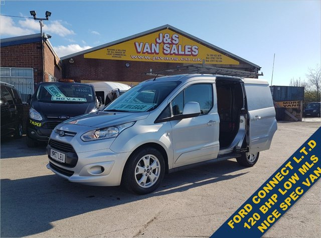 USED 2017 67 FORD TRANSIT CONNECT T200 LIMITED P/V 120 BHP SILVER LOW MLS 66K BIG STOCK OVER VANS OVER 100 ON SITE