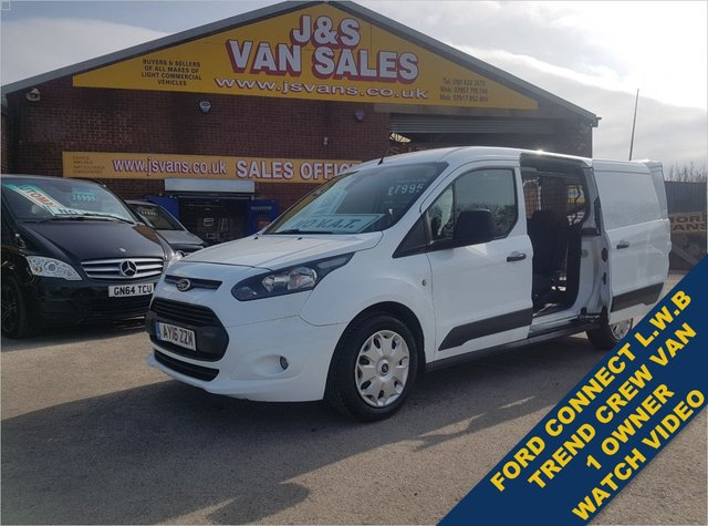 USED 2016 16 FORD TRANSIT CONNECT  230 TREND COMBI CREW VAN L.W.B NO V.AT TO PAY NO VAT TO PAY BIG SAVING