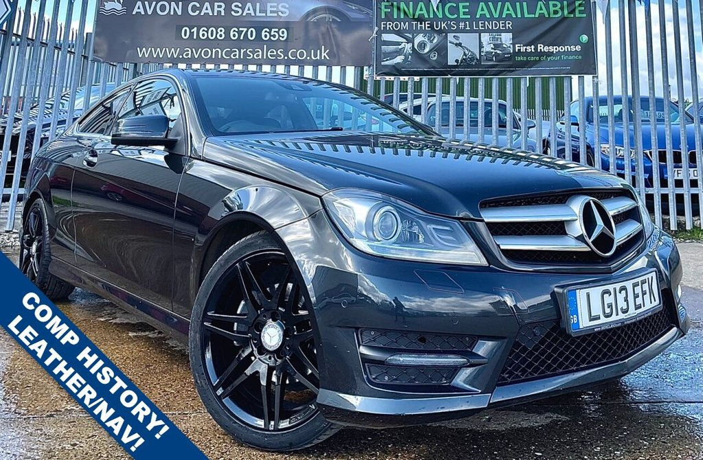 USED 2013 13 MERCEDES-BENZ C-CLASS 2.1 C250 CDI BLUEEFFICIENCY AMG SPORT PLUS 2d 202 BHP AUTO! GOOD HISTORY! 2 PREV OWNERS! LEATHER/SUEDE INTERIOR! SAT NAV! REV CAMERA!