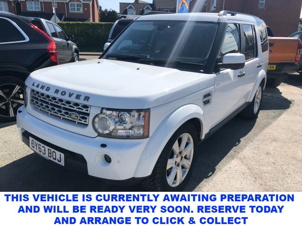 USED 2013 63 LAND ROVER DISCOVERY 4 3.0 SDV6 HSE 5d 7 Seat Family SUV 4x4 AUTO Stunning in White and Massive High Spec The perfect family SUV 4X4 Auto in Fuji White