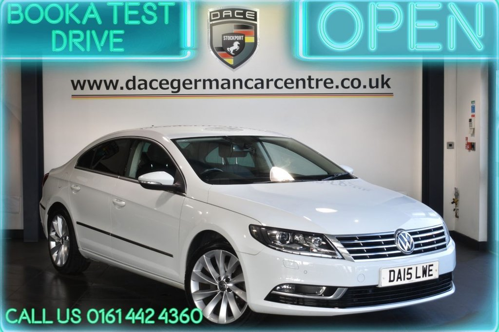 USED 2015 15 VOLKSWAGEN CC 2.0 GT TDI BLUEMOTION TECHNOLOGY DSG 4DR AUTO 138 BHP
