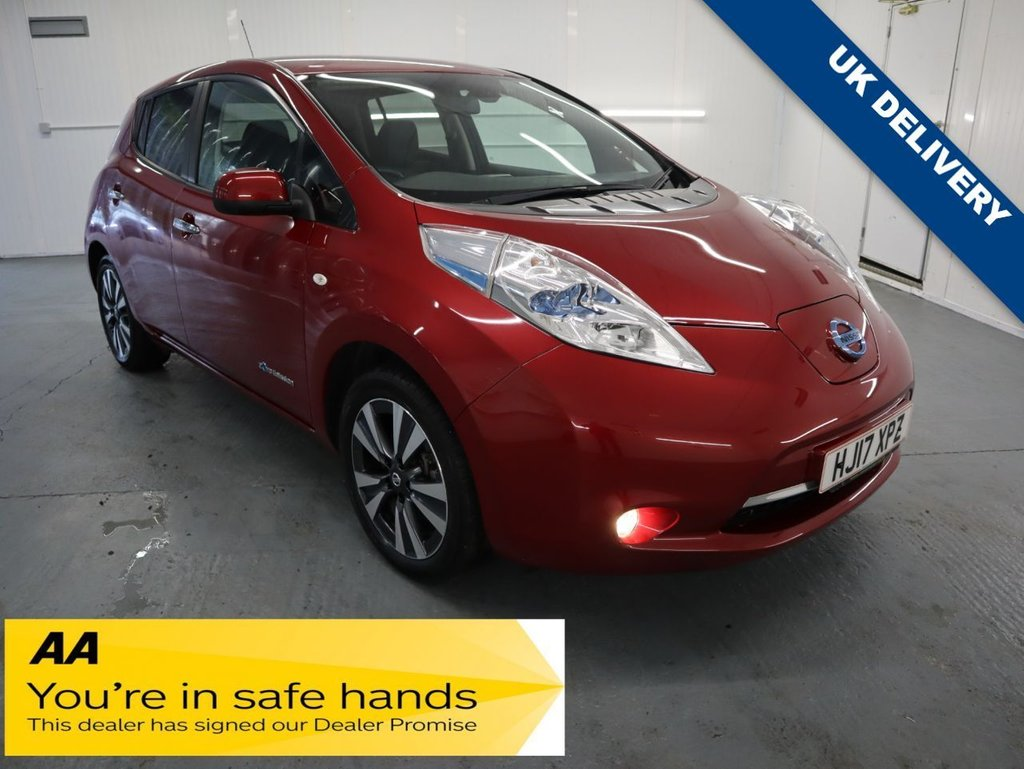 USED 2017 17 NISSAN LEAF 0.0 TEKNA 5d 109 BHP THE ALL ELECTRIC LEAF THATS EASY TO DRIVE, COMFORTABLE AND HAS A DECENT RANGE.