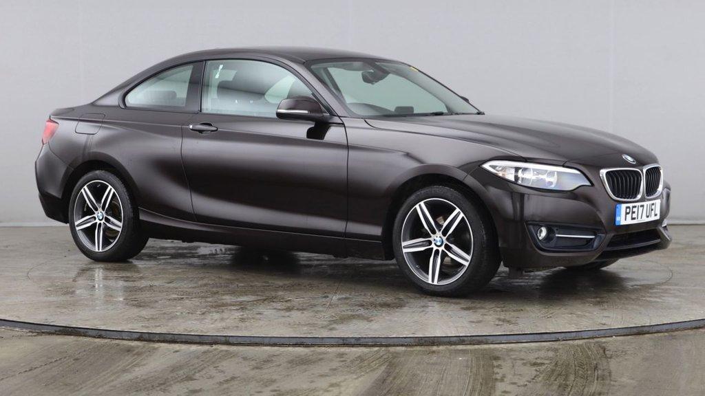 USED 2017 17 BMW 2 SERIES 1.5 218I SPORT 2d 134 BHP +ONE OWNER +DAB +SAT NAV.