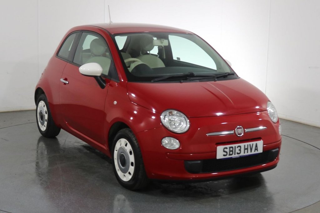 USED 2013 13 FIAT 500 1.2 COLOUR THERAPY 3d 69 BHP 1 OWNER I FULL 8 STAMP SERVICE HISTORY