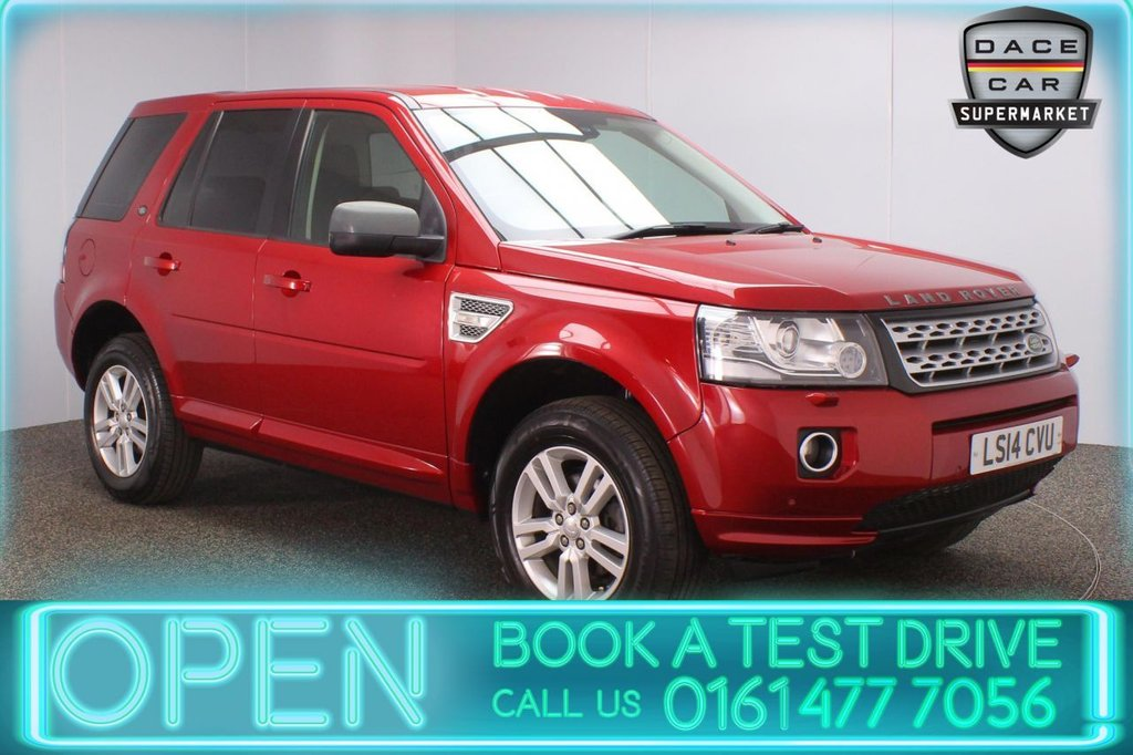 USED 2014 14 LAND ROVER FREELANDER 2.2 SD4 XS 5DR AUTO 190 BHP LAND ROVER SERVICE HISTORY + HEATED LEATHER SEATS + SATELLITE NAVIGATION + PARKING SENSOR + BLUETOOTH + CRUISE CONTROL + CLIMATE CONTROL + MULTI FUNCTION WHEEL + XENON HEADLIGHTS + PRIVACY GLASS + DAB RADIO + ELECTRIC WINDOWS + ELECTRIC DOOR MIRRORS + ALLOY WHEELS