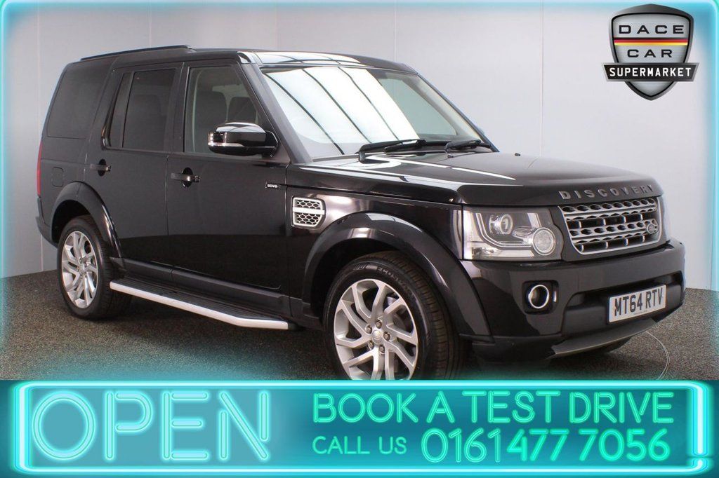 USED 2014 64 LAND ROVER DISCOVERY 3.0 SDV6 HSE 5DR AUTO 255 BHP LAND ROVER SERVICE HISTORY + 7 SEATS + HEATED LEATHER SEATS + TRIPLE SUNROOF + SATELLITE NAVIGATION + REVERSING CAMERA + PARKING SENSOR + BLUETOOTH + CRUISE CONTROL + CLIMATE CONTROL + MULTI FUNCTION WHEEL + ELECTRIC/MEMORY FRONT SEATS + PRIVACY GLASS + XENON HEADLIGHTS + ELECTRIC WINDOWS + ELECTRIC DOOR MIRRORS + ALLOY WHEELS