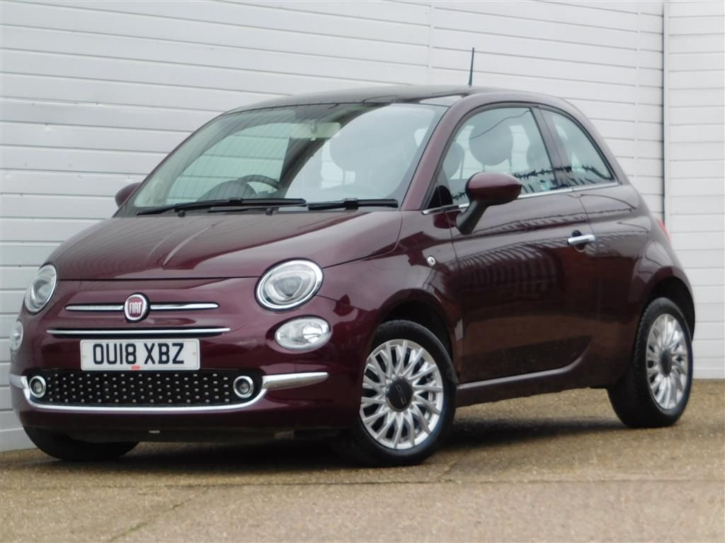 USED 2018 18 FIAT 500 1.2 LOUNGE 3d 69 BHP Buy Online Moneyback Guarantee