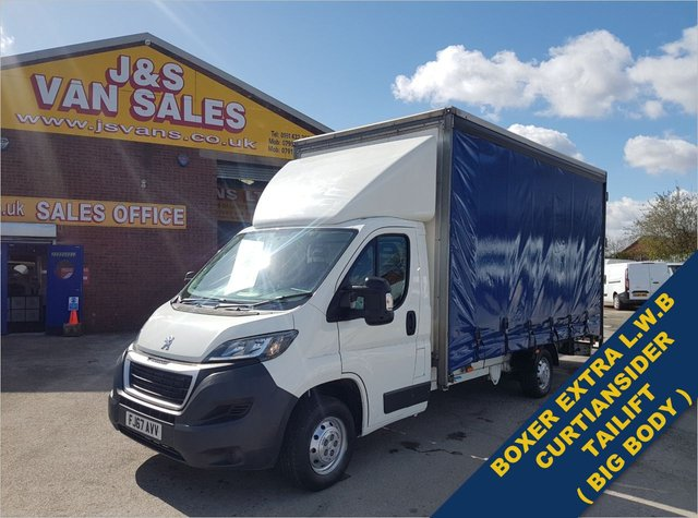 USED 2017 67 PEUGEOT BOXER CURTAIN SIDE TAILIFT BLUE HDI 335  130 BHP E/6 BIG STOCK EURO 6 OVER VANS OVER 100 ON SITE