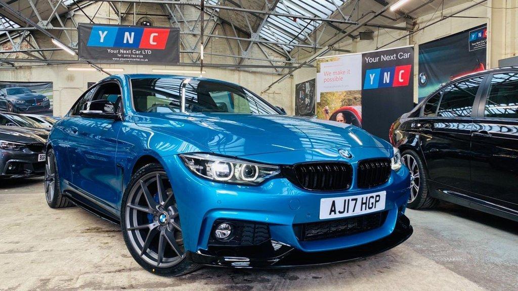 USED 2017 17 BMW 4 SERIES 2.0 420i M Sport (s/s) 2dr PERFORMANCEKIT+APPCARPLAY+20S