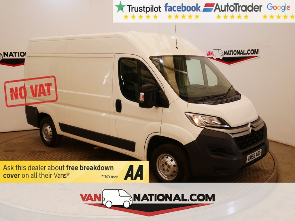 USED 2018 68 CITROEN RELAY 2.0 35 L2H2 BLUEHDI 130 BHP NO VAT WWW.VANNATIONAL.COM