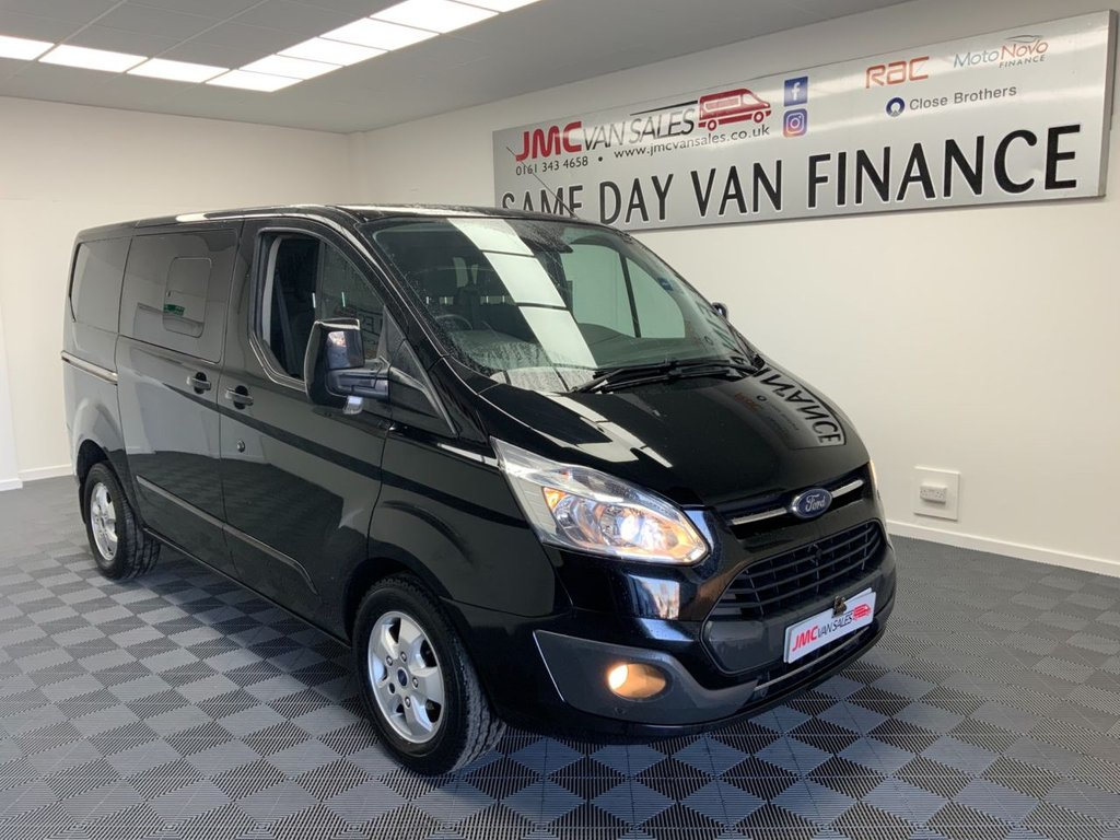 USED 2017 17 FORD TRANSIT CUSTOM 2.0 310 LIMITED 130BHP 1 OWNER 6 SEAT CREW VAN AIR CON CRUISE SWB 1 OWNER  AIR CON, CRUISE CONTROL, 6 SEAT CREW VAN