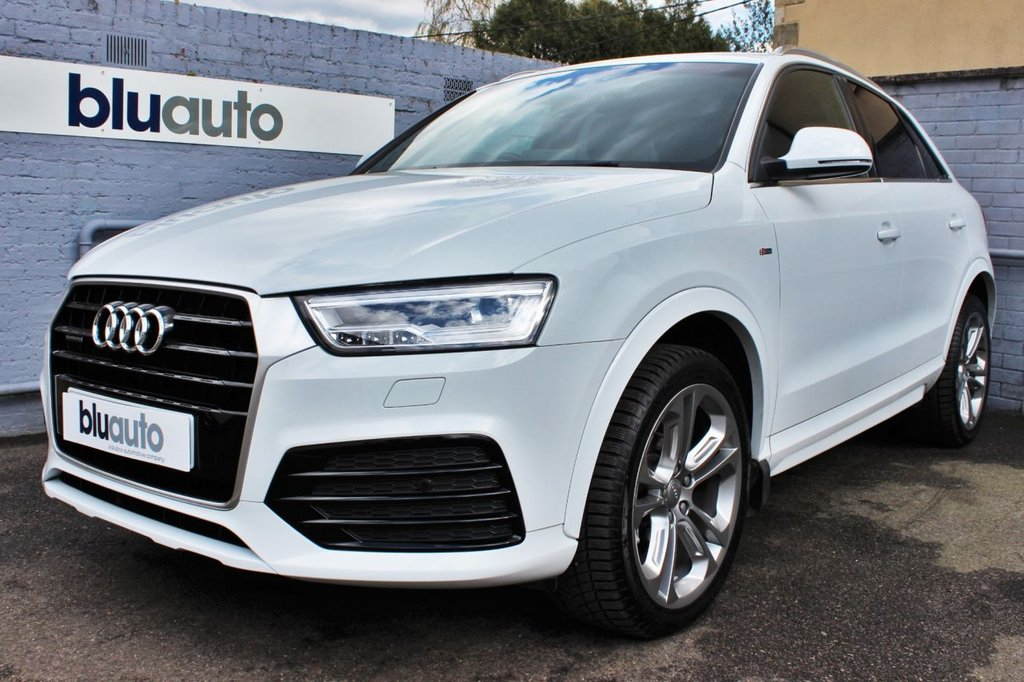 USED 2016 16 AUDI Q3 2.0 TDI QUATTRO S LINE PLUS 5d 182 BHP 1 Owner, Full Audi History, Sat Nav, Part Leather/Alcantara Sport Seats, Front & Rear Parking Sensors........