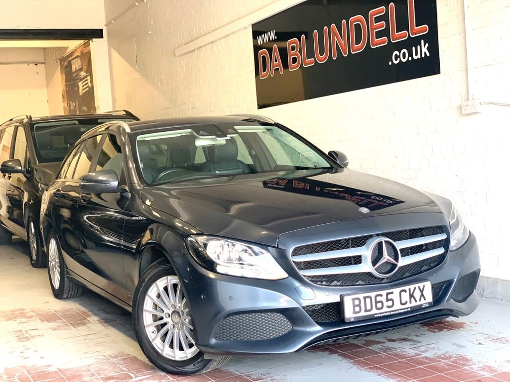 USED 2015 65 MERCEDES-BENZ C-CLASS 2.1 C220 D SE EXECUTIVE 5d 170 BHP 1 YEAR MERC WARRANTY+NAV+R.CAM